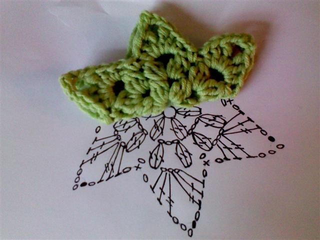 Crochet Popcorn Star - Chart