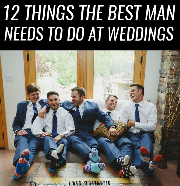 12 Things the Best Man *Needs* to Do at Weddings | http://emmalinebride.com/planning/best-man-duties/