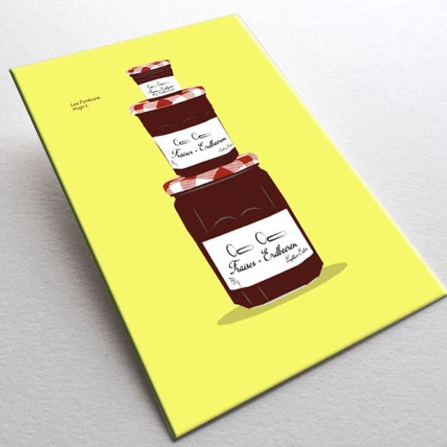 The 'Fonticure' by Hugo L.Printed Illustration on Postcard #mypushup https://www.mypushup.com