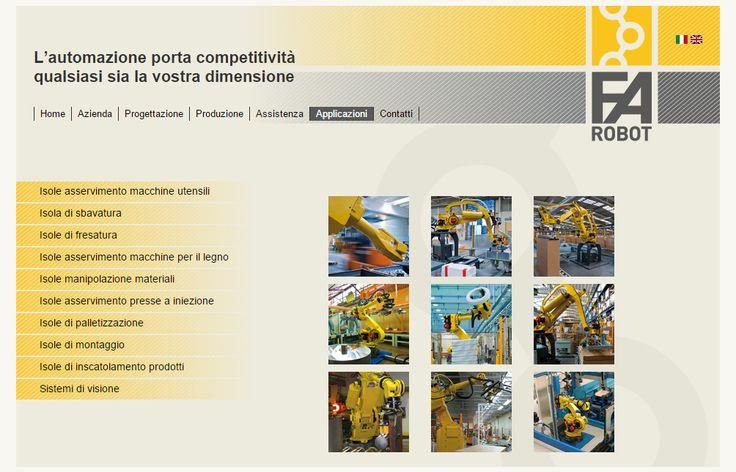 #Sitointernet per la ditta #FArobot di #Pradamano produttrice di #robotindustriali per la piccola, media e grande impresa. www.farobot.com