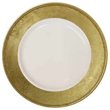 Charge It by Jay! Gold Charger Plates (Set of 4) contemporary chargers