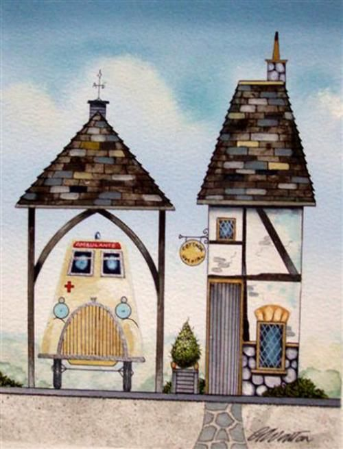 gary walton artwork   Gary Walton - The Ambulance Station (Original)