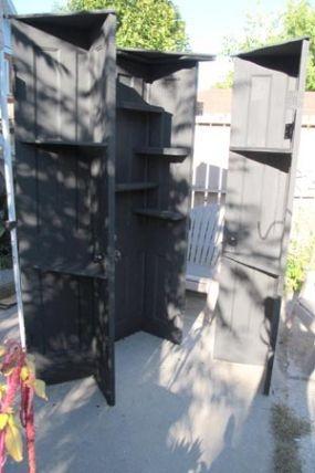 Corner shelves from old doors - JUNKMARKET Style