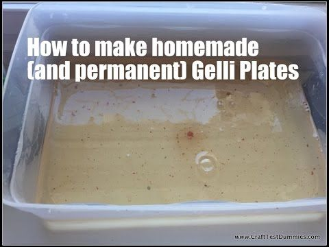 ▶ Homemade and Permanent Gelli Plate Recipes - YouTube