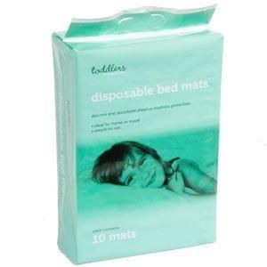 Disposable Bed Mats (Case of 6 x 10 Packs) by Disposable