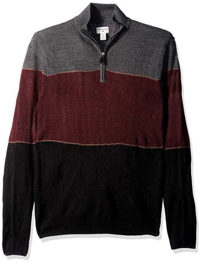 549c4d6a Dockers Men's Quarter Zip Soft Acrylic Sweater at Amazon Men's Clothing  store #men #mensfashion