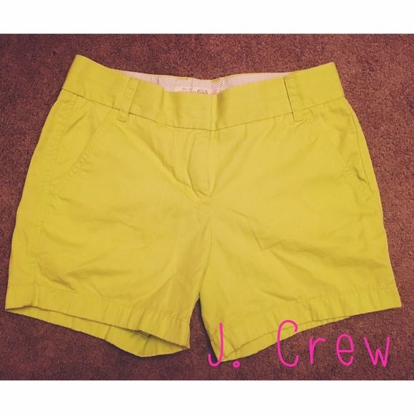Neon Green Shorts J.Crew chino classic twill shorts in neon green. Super comfortable and perfect for spring and summer J. Crew Shorts
