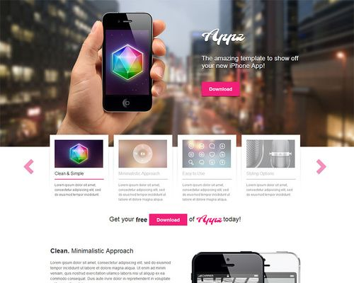 Appz - Free iPhone App WordPress Theme