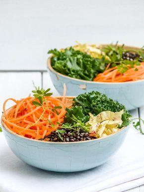 Un veggie bowl au chou kale et lentilles Beluga à adopter sans hésitation, pour ses jolies couleurs, ses goûts délicats et sa richesse nutritionnelle.