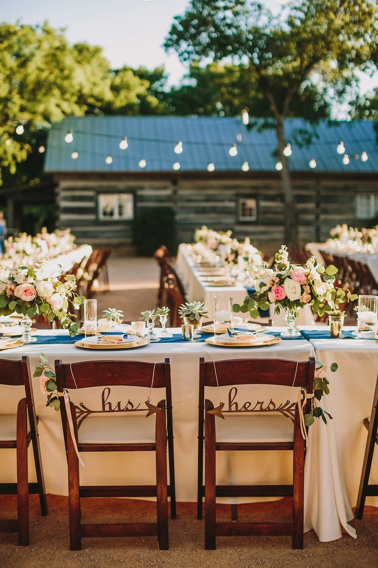 Summer Wedding At Hoffman Haus Featuring Our Fruitwood Folding Chairs.  Photo By Two Pair Photography.