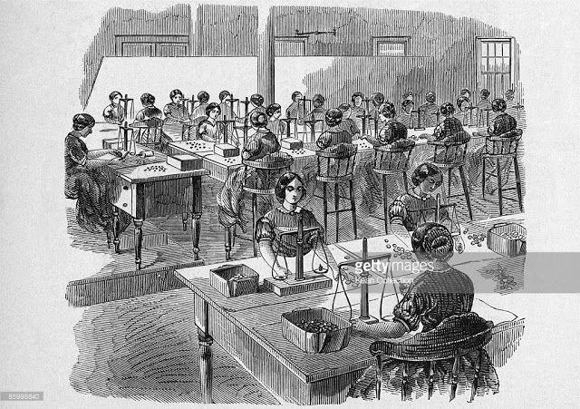 Adjusting room, Philadelphia Mint. Harper's Magazine December 1861. | In the Swan's Shadow