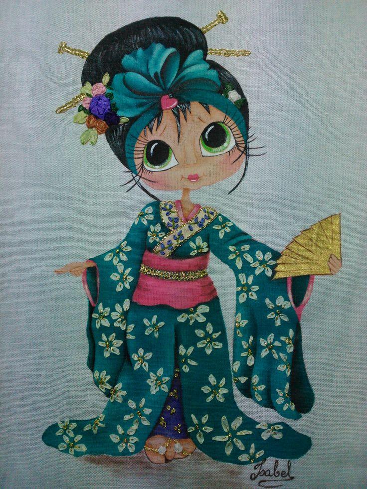 pintura en tela y bordado