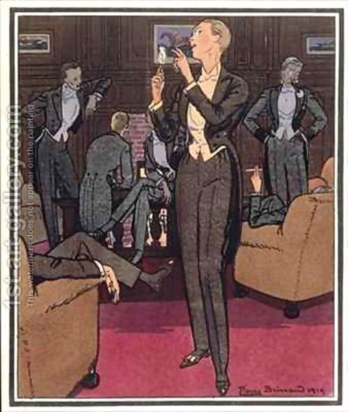 """Pierre Brissaud  """"The Smoking Room"""" 'Monsieur' Magazine"""