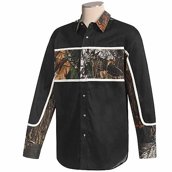 Roper Mossy Oak Camo Outdoor Button Down Shirt Long