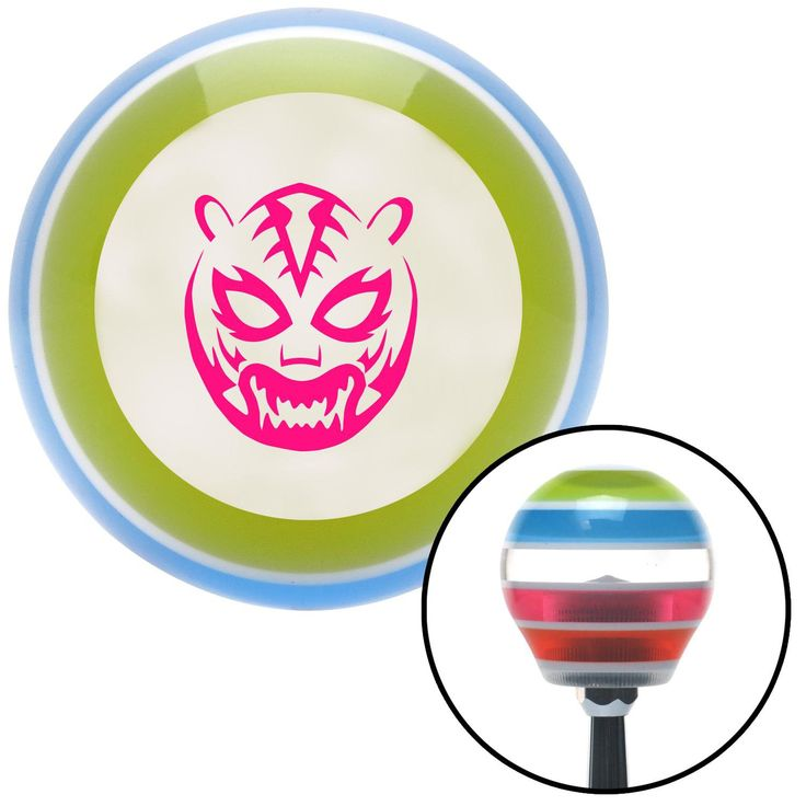 Pink Lucha Libre Mask Stripe Shift Knob with M16 x 15 Insert - Give your interior the ultimate look. American Shifter's Elite(TM) series shift knobs are made from the highest quality components resulting in a superior feel on every shift. Each shift knob is designed and customized in the USA by skilled shift knob artisans who have a trained eye on every detail. American Shifters shift knobs offers an exclusive aluminum threaded insert designed to be screwed onto your shift arm. You should…