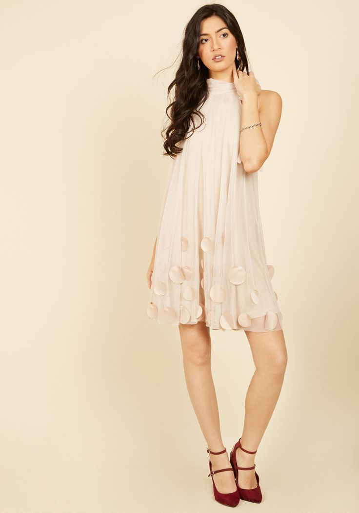 All Neutral Shift Dress. This lovely beige dress by Ryu will have everyone at your garden tea party talking! #cream #prom #modcloth