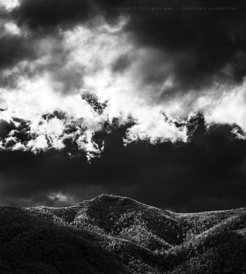 Winter temps and cloudscapes ... in the middle of summer - Tidbinbilla, Jan 2015 #Nikon #cloudscapes #monochrome #infra-red
