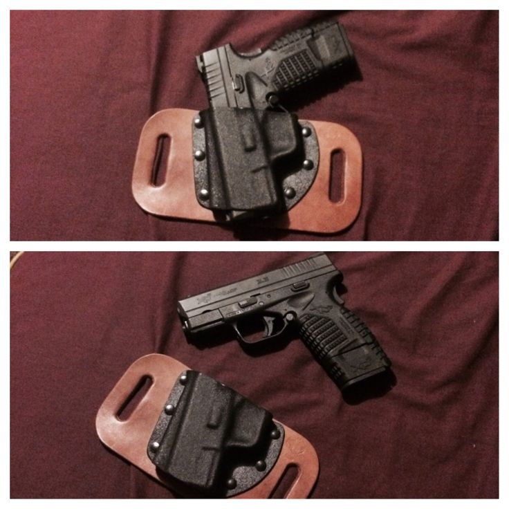 Ok ladies and gentlemen,  The snap slide  crossbreed holster for the XDS 45 came in today...... ..... And Must say that I'm pretty sure I'm going to LOVE IT! Holds the gun snug fits close enough to you for OWB conceal carry, tried it with a T-shirt (didn't buy it for that though). Anyways, it's built well from what I can tell. Now it's the test of time. #bringiton