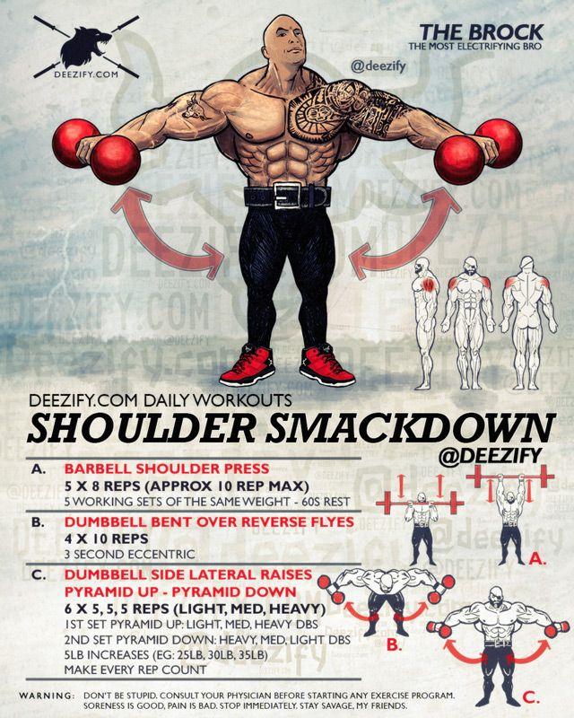 rock shoulder smackdown - shoulder day workout
