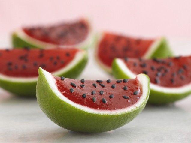 Vodka Watermelon Shots!: Treats, Idea, Watermelon Shots, Jello Shots Recipes, Watermelon Jello Shots, Jell O', Limes, Petite Watermelon, Watermelon Recipes