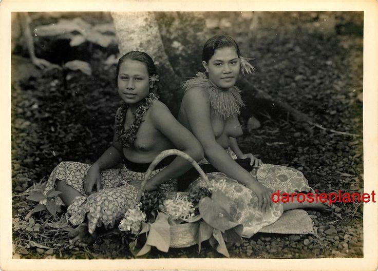 Vintage pacific island women womanhaving sex