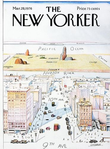 View of the World from Ninth Ave- New Yorker Cover '76
