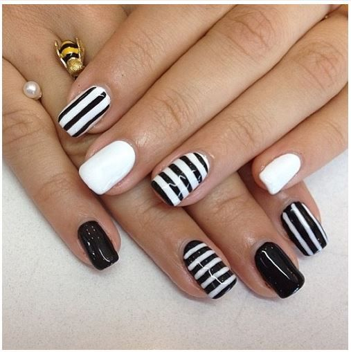Nail art designs black and white step by step zebra nails easy black white striped nail art bobs rouge view images prinsesfo Gallery