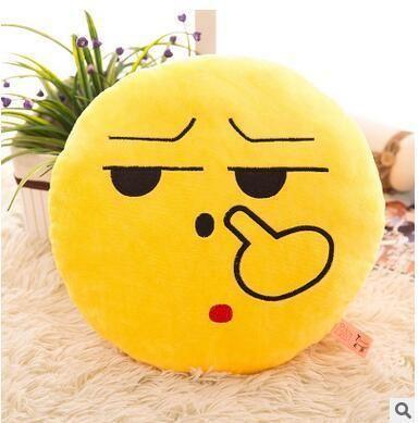 Cartoon Smiley Face Cushion