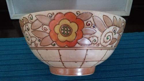 English Porcelain - BURSLEY WARE CHARLOTTE RHEAD TL3 TRELLIS DESIGN BOWL for sale in Pretoria / Tshwane (ID:219738560)