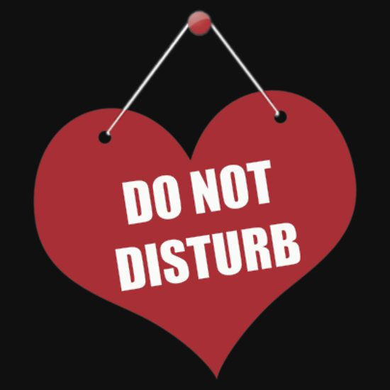 Do Not Disturb Get this artwork in dozens of products available in our Red Bubble Shop #πλAy #playshirts #tshirt #redbubble #do #not #disturb #heart #print #broken #lonely #single #celibataire #iphone #case #dress #man #woman #sticker #bag #pillow #stationery #noebook  #mug #print #poster #skin