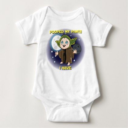 Yoda - Pooped my pants I have - baby one-piece Baby Bodysuit - baby gifts child new born gift idea diy cyo special unique design
