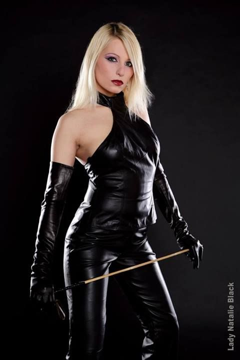 Leather gloves femdom