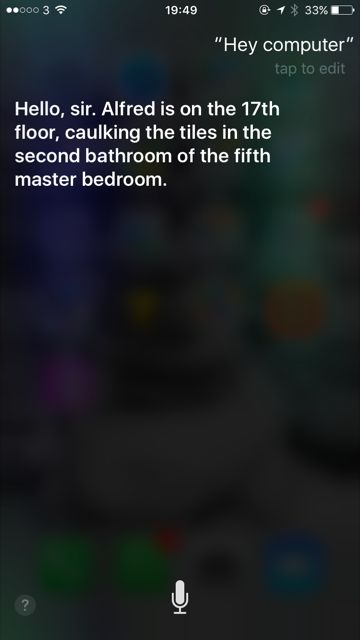 Do you want to watch the Lego Batman Movie ?  If you can't wait, you can enjoy a funny Easter Egg on you Iphone, because Siri will answer yo...