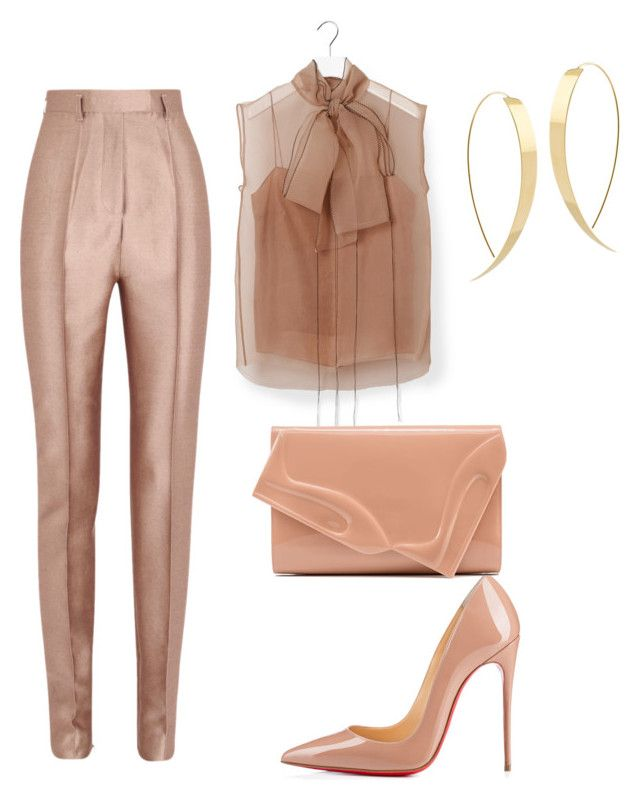 """""""Untitled #666"""" by mchlap on Polyvore featuring Haider Ackermann, Lanvin, Christian Louboutin and Lana"""