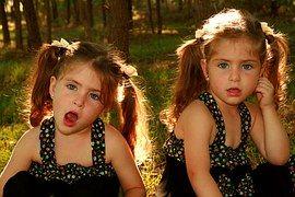 Dvojče, Sestry, Láska, Dívky, Modré Oči