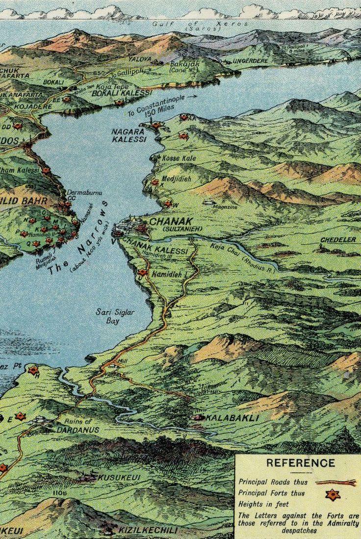Gallipoli Narrows Map 1915