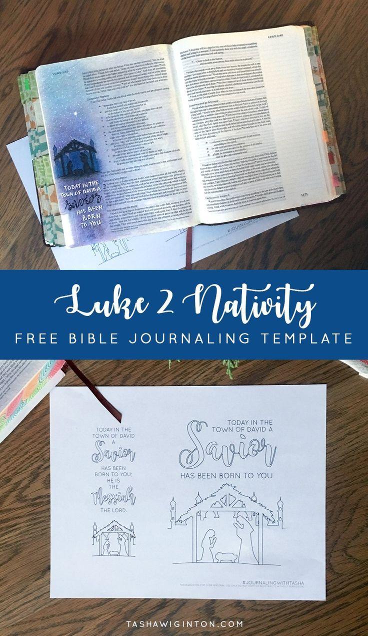 Easy Bible Journaling With Free Luke 2 Christmas Nativity