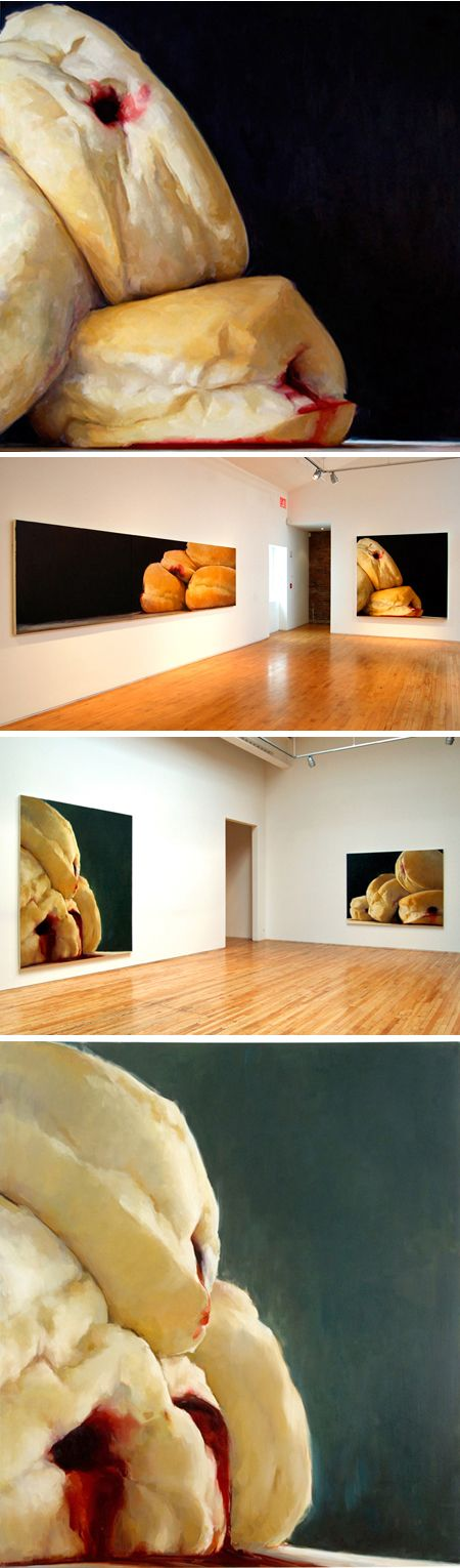 emily eveleth, I can't stop thinking about these paintings and I don't even like donuts.