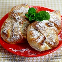 Sweet Cheese and Raisin Pastries with step by step photo instructions