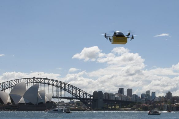 Australian Company Starts World's First Delivery By Drone Service.
