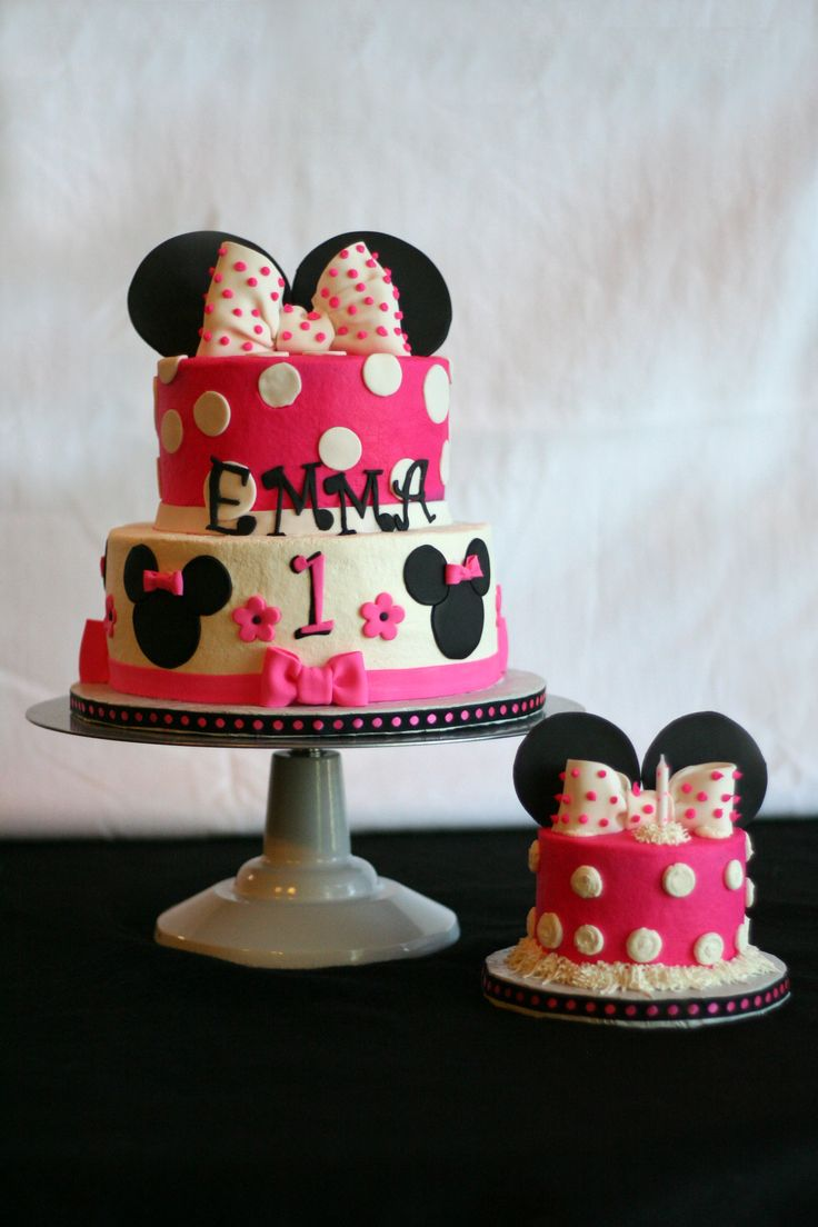 My TV Moments  Minnie Mouse Fondant Birthday Cake