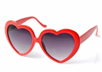 These heart shaped sunglasses are a super cute accessory for any gal!
