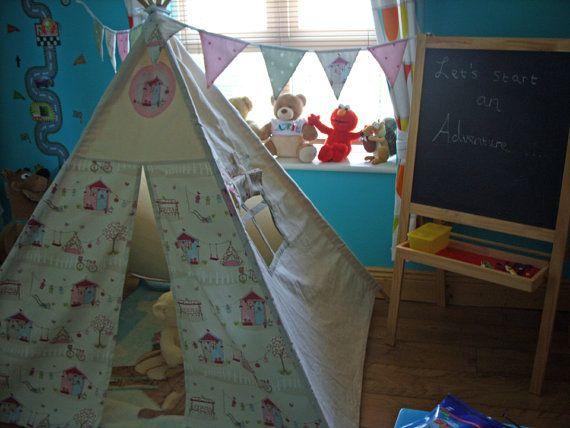 Teepee Kids Teepee Tent Tipi Children's Tepee by TheTeepeeFairy
