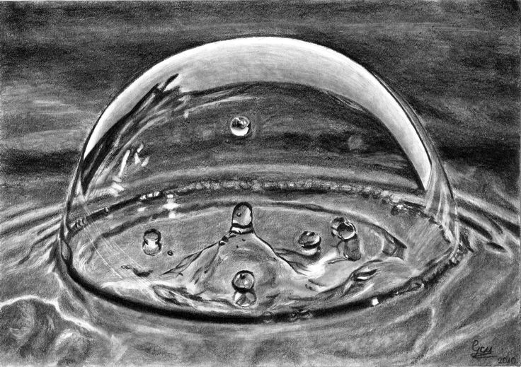 Pencil Drawing of water | Water Drop Drawing