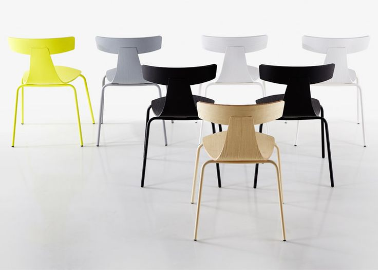 Konstantin Grcic's Remo chair for Plank features a T-shaped back.
