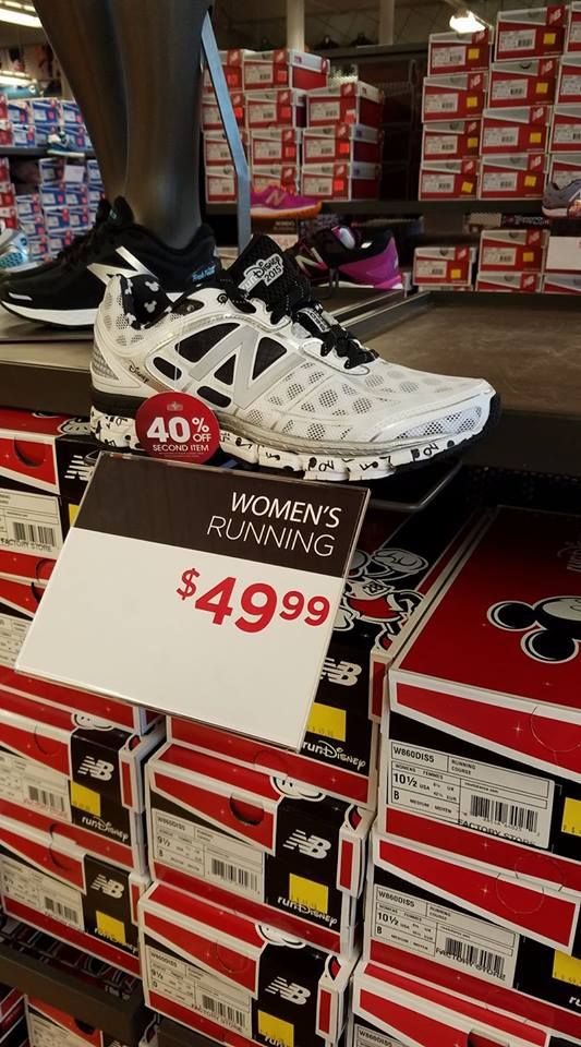 RunDisney New Balance Shoes Spotted At Outlet Stores!