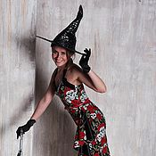"""Одежда ручной работы. Ярмарка Мастеров - ручная работа Ретро платье в стиле 50-х Саронг """"Стильная ведьмочка"""". Handmade."""