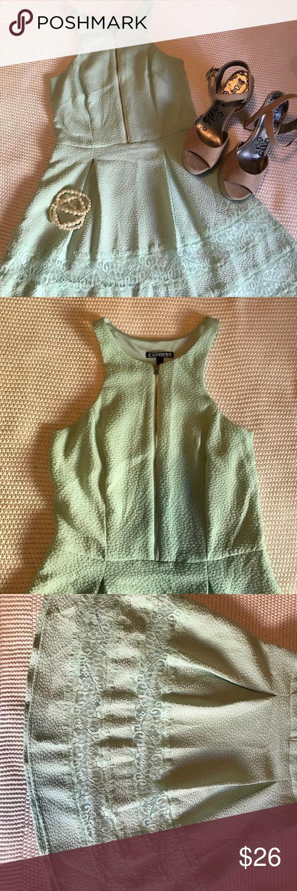 🎉SALE🎉Express Mint Short Dress Size 2. Runs like an S. Only has been worn once. Express Dresses Mini