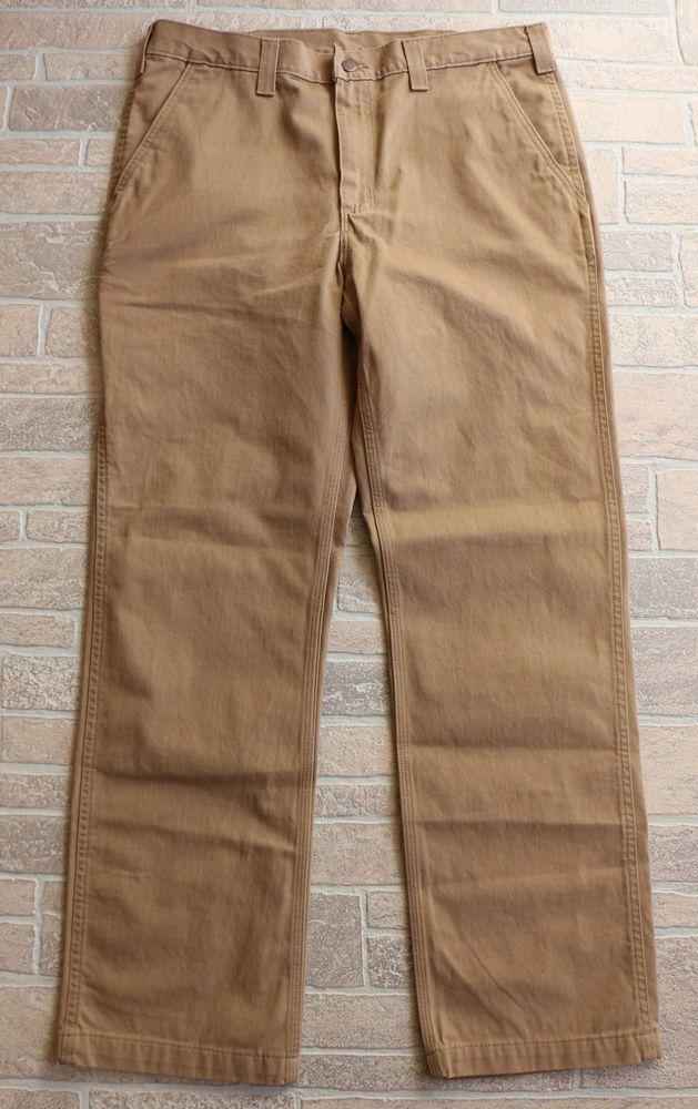 4bbb46fc50 Carhartt Mens Rugged Work Khaki Pants Size 36 x 32 Relaxed Fit Dark Khaki  Brown #Carhartt #KhakisChinos