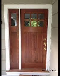 Wood front door with one side light back door for Wooden exterior back doors